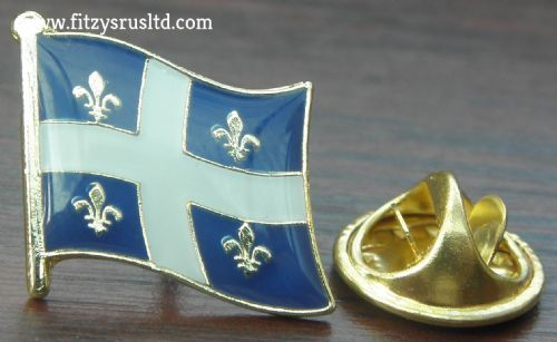 Quebec Country Flag Lapel Hat Cap Tie Pin Badge Qubec Gift Souvenir